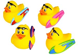 Set of 12 ~ Surfer Rubber Ducks
