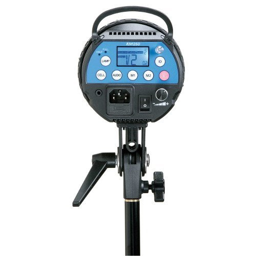Calumet Genesis 250 Auto Sensing Studio Flash Unit With Led Modelling Lamp, And Built-In Genesis Wireless Receivers For Remote