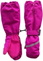 N'Ice Caps Girls Reflector Thinsulate and Waterproof Elbow Mitten with Zipper