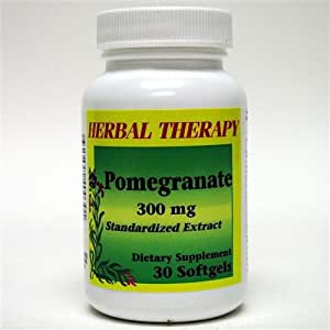 Pomegranate Herbal Therapy Extract 300 mg 30 Softgels