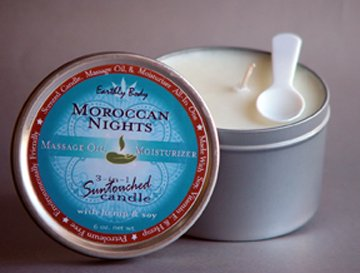 Moroccan Nights Massage/Skin Candle Sensual/Spicy Enjoy some time together Hemp-based-Skincare 100% Natural
