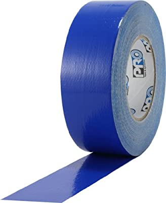 "ProTapes Pro Duct 110 PE-Coated Cloth General Purpose Duct Tape, 60 yds Length x 2"" Width, Blue (Pack of 1)"