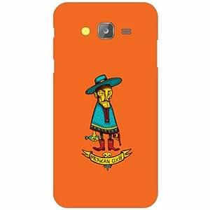 Samsung Galaxy J5 Back Cover - Silicon Orange Designer Cases