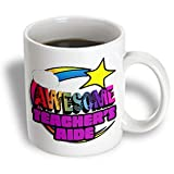 3dRose mug_201426_1 Shooting Star Rainbow Awesome Teachers Aide Ceramic Mug - 11-Ounce