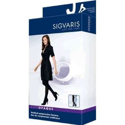 Sigvaris Soft Opaque 842PLSW99 20-30 mmHg Womens Closed Toe Panty, Black, Large-Short by Sigvaris jetzt kaufen