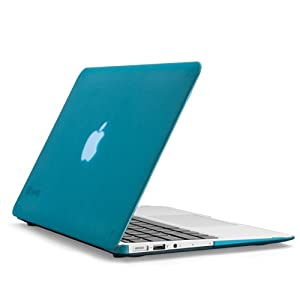 Speck Products SeeThru Satin Soft Touch, Hard Shell Case for MacBook Air 13-Inch, Peacock Blue (SPK-A2207)