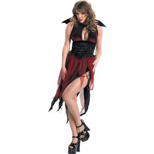 Veinia Adult Classic Witch Vampiress Sorceress Sexy Costume Goth Gothic