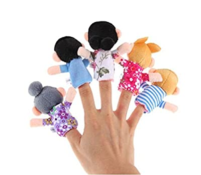 AxiEr 6pcs Family Finger Puppets Learn Story Toys Set by AxiEr