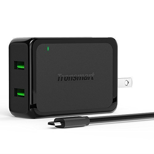 Tronsmart 4.8A Dual USB Wall Charger with Quick Charge 2.0 Technology.Foldable Plug...