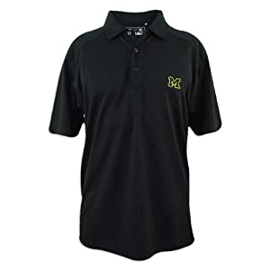 Michigan Wolverines Cutter and Buck Drytec Genre Polo by Cutter & Buck