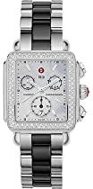 Michele Deco Diamond Stainless Steel & Ceramic Ladies Watch MWW06A000717