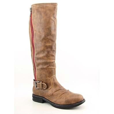 Madden Girl Women's Zandora Knee High Round Toe Boot in Tan Size 11