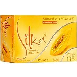 Silka papaya pure herbal skin whitening soap whitens as early as 14days