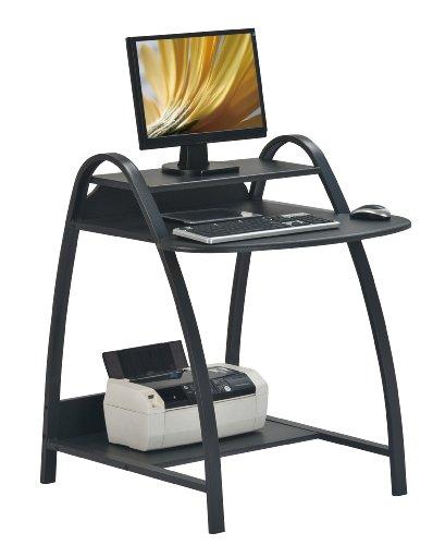SixBros. Computer Desk - PC Workstation - Office Desk - Black - S-208/1062
