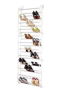 Premier Housewares Range Chaussures Pour Porte 12 Niveaux Blanc Gris Cuisine Maison