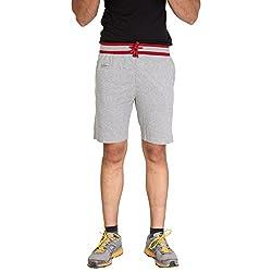 Men's Cotton Grey Shorts in Grey by Bongio_RMS5A3006A_XL