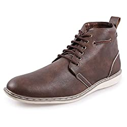 Andrew Scott Mens Synthetic Brown Casual Shoes