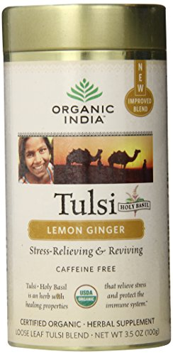 Organic India Tulsi Lemon Ginger 3.5 Oz. (Pack Of 12)