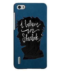EU4IA Sherlock Collections MATTE FINISH 3D MATTE FINISH Back Cover Case For Huawei Honor 6 - D473