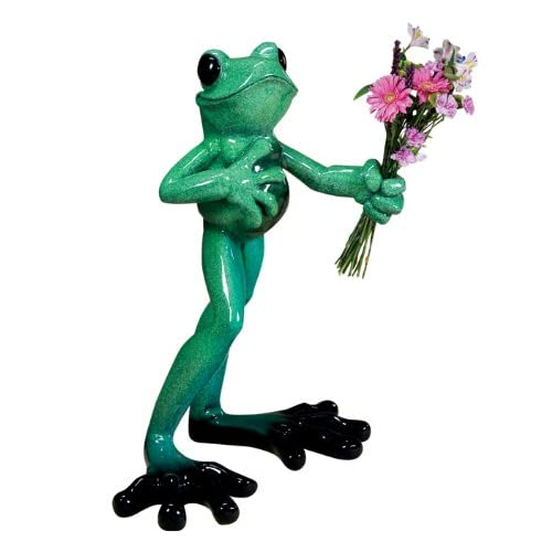 Amazon.com - Kitty's Critters 8042 El Don Standing Frog Sculpture, 37