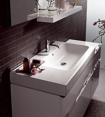 waschtisch mit ablage links. Black Bedroom Furniture Sets. Home Design Ideas
