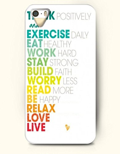 Oofit Iphone 4/4S Case Think Positively And Exercise Daily Eat Healthy Work Hard Stay Strong Build Faith Worry Less Read More Be Happy Relax Love Live Proverbs Of Life front-390672