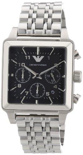 Emporio Armani AR1626 - Reloj cronógrafo de cuarzo para hombre, correa de acero inoxidable color plateado