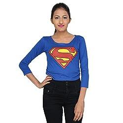 LondonHouze Superman Full Sleeves Crop Top (Medium)