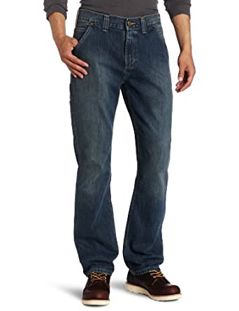 Carhartt Men's Relaxed Fit Straight Leg Jean, Dark Worn/Blue, 31x30