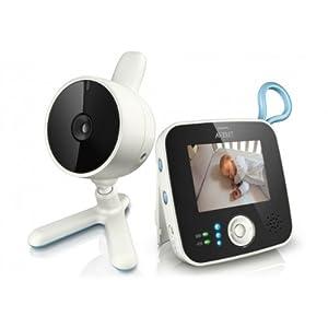 Philips Avent SCD610/00 - Vigilabebés con cámara, alcance de 150 m, pantalla LCD de 2,4 pulgadas con visión diurna y nocturna, activación de pantalla automática, con zoom y posibilidad de adaptar hasta 4 cámaras