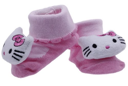 Eozy Hello Kitty Baby Unisex Indoor Floor Anti-Slip Socks Animal Booties front-317706