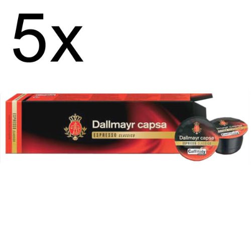 Choose Dallmayr capsa Espresso Classico, Pack of 5, 5 x 10 Capsules from Alois Dallmayr
