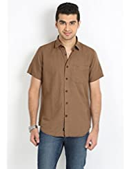 Sting Men's Brown Slim Fit Casual Shirt - B00LXXFZWG