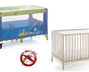 Mosquitera universal para la camita del bebé / Cuna del bebé / Corralito del bebé (145 x 74 x 82,5 cm) MOSQUITO NET mws1591 en BebeHogar.com