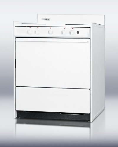 """Summit Wem2171Q: 30"""" Wide Electric Range With Indicator Lights And A Three-Prong Line Cord, For Hud Applications."""