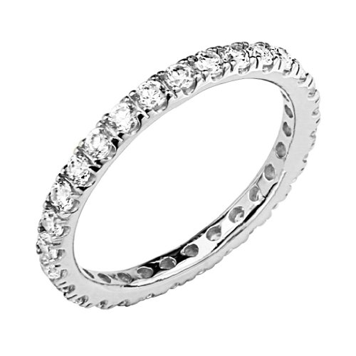 925-Sterling-Silver-Rhodium-Plated-25mm-Eternity-Band