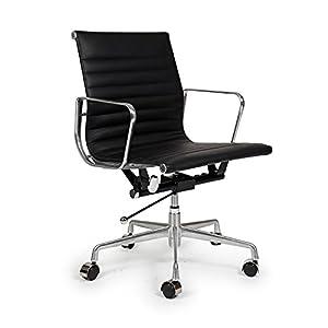 mid aluminum office chair white italian. Classic 1958 Lider Ribbed Mid Back Aluminum Office Chair White Italian