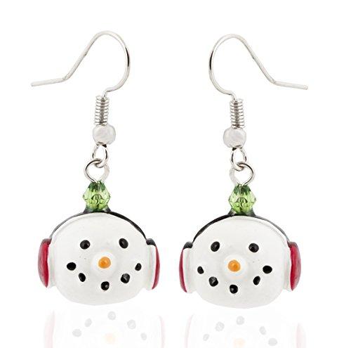 Earrings Snowman with Earmuffs