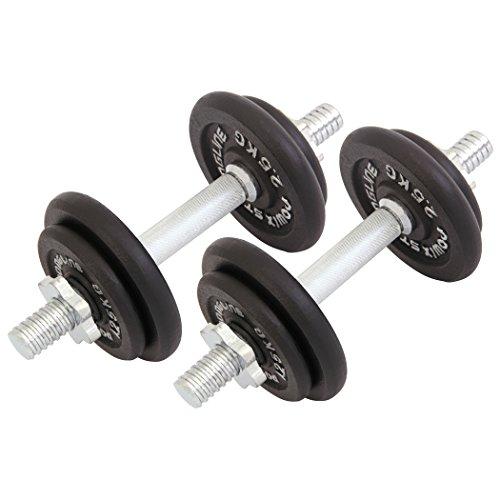 Manubri pesi ghisa 20 kg set (2 x 10 kg).