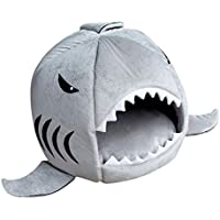 Imported Cat Pet Shark Bed Puppy Dog Cozy Warm Cushion Mat Nesting Rest House Grey M