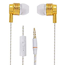 Hello Zone Premium Quality Comfort Fit Earphone Handsfree Headphone (with Glow Thread-Embedded) with Mic 3.5 MM Jack for Allview P5 Energy -Gold