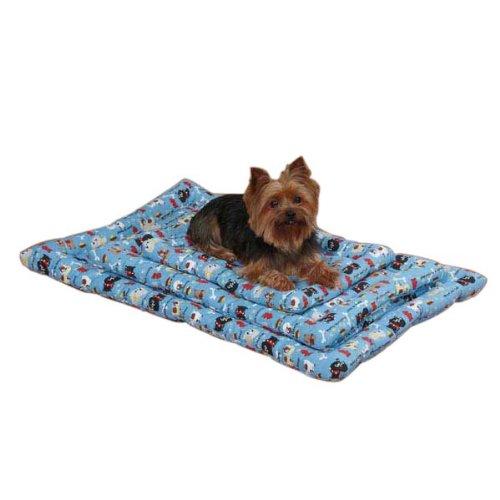 Slumber Pet Tough Dog Canvas Mat, 35-Inch, Blue front-262338