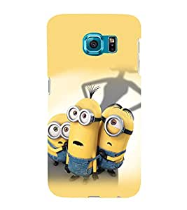 printtech Minions Back Case Cover for Samsung Galaxy S6::Samsung Galaxy S6 G920