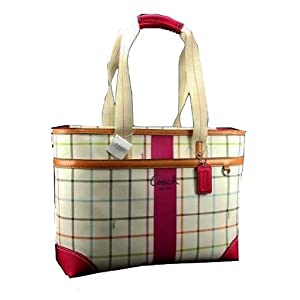 Coach JUMBO Chelsea Tattersall Mutli Computer Diaper Business Bag 14792