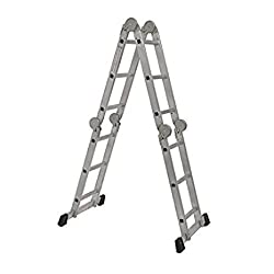 Youngman 4 Section Hinged Joint Aluminium 12 Steps 3 FT Multi Purpose Ladder with 2 Plates.