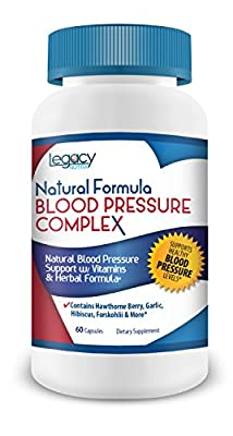 Legacy Nutra Natural Formula High Blood Pressure Supplement ? Our Pills Works to Lower Blood Pressure Naturally with the Best Combo of Niacin, Hawthorne Berry, Forskohlii, Garlic and Blood Pressure Vitamins B-6, B-12 and C ? Your Solution To Reduce High B