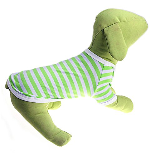 Delight eShop Pet Puppy Small Dog Cat Pet stripe Vest POLO T Shirt Apparel Clothes Summer (XL) (M) (Winnie The Pooh Vest Disney Costume)