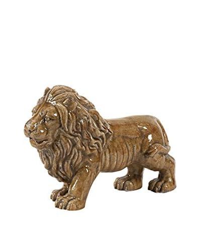 Max & Nellie Baton Ceramic Lion Statuary
