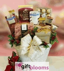 Godiva & Truffles All Chocolate Holiday Gift Basket