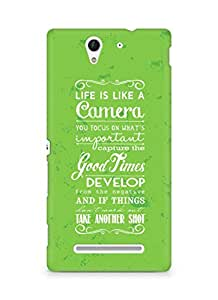 AMEZ life is like a camera Back Cover For Sony Xperia C3 D2502
